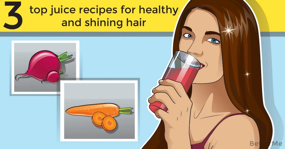 3 top juice recipes for healthy and shining hair