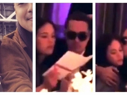 Confirmed na? John Lloyd Cruz caught on video kissing Ellen Adarna on the cheek and hugging her while attending a wedding party