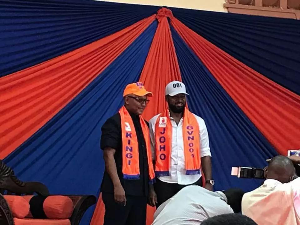 Joho unveils Kingi as his running mate (photos)