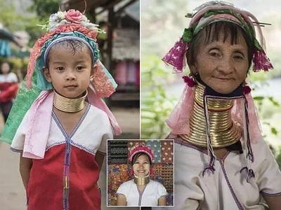 These women wear brass coils to ELONGATE their necks in show of beauty (photos)