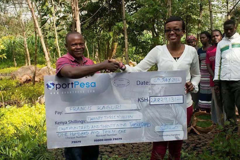 Gardener bags KSh 23.8 million Sportpesa jackpot