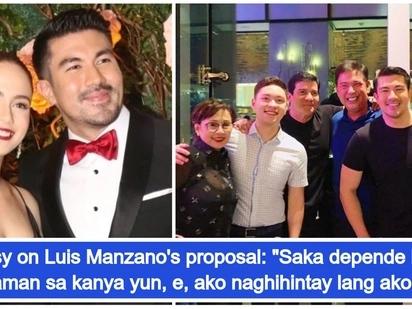 """""""Naghahanap lang siya ng tamang oras."""" Jessy Mendiola reveals she is ready for Luis Manzano's wedding proposal"""
