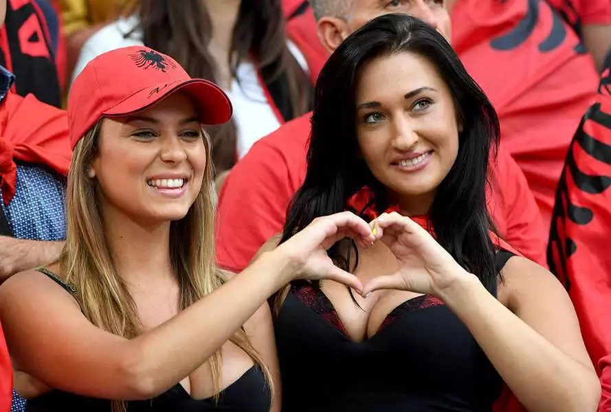 Albania tops in having hot female fans at Euro 2016