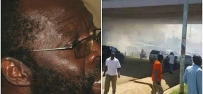 Chaos as Anyang Nyongo's convoy is teargassed moments after being cleared by the IEBC