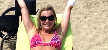 WATCH: Woman who lost limbs to flesh-eating bacteria finds a boyfriend and wears a bikini
