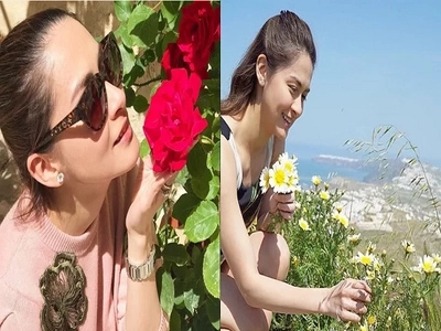 Even while on vacation, Marian Rivera gets inspiration from blooms in Europe for her flower shop