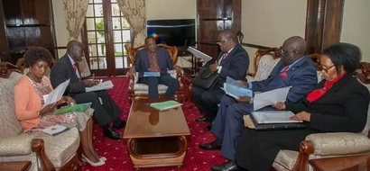 CS Matiang'i spotted in State House moments to the release of KCPE exams (photos)