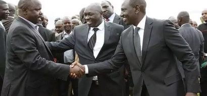 Photos: William Ruto and Isaac Ruto in rare jovial meeting