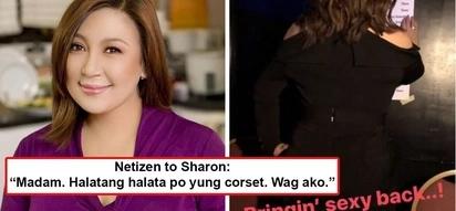 Ay, may corset daw! Netizens allege Sharon Cuneta wears a corset in 'bringin' sexy back' photo she flaunted on IG