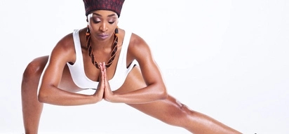 Khabonina points out that yoga is not only for 'whites or slim people'