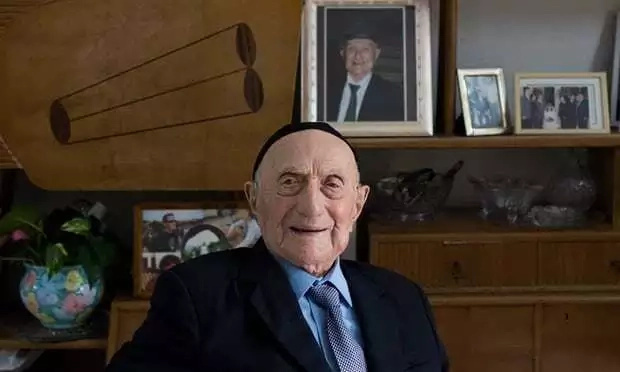 He survived the Holocaust and two world wars. Photo: EPA/Abir Sultan