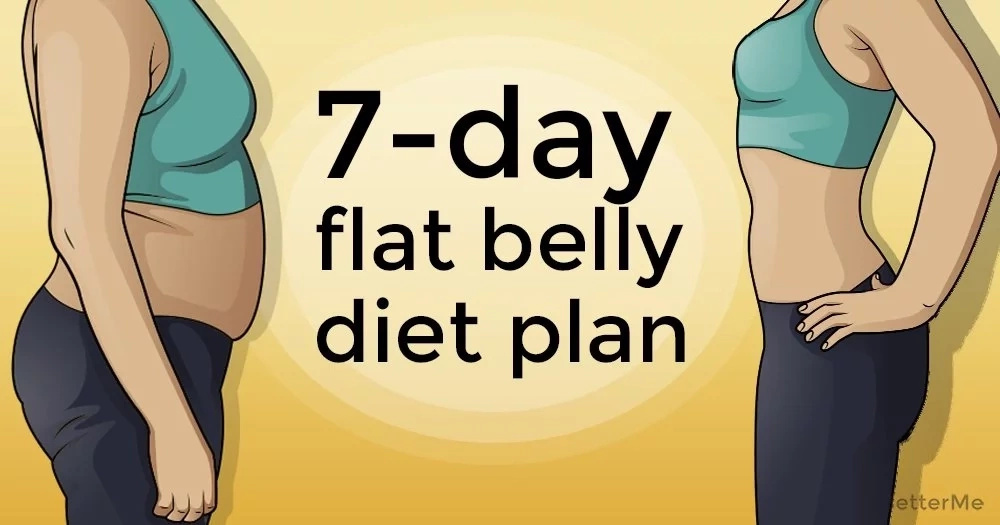A 7-day flat belly diet plan