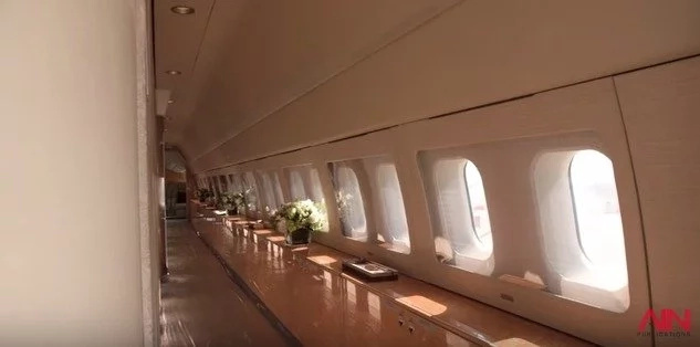 The plane's finishes are top of its class