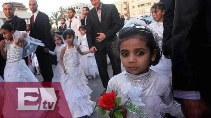 Niña de ocho años muere en su primera noche de bodas