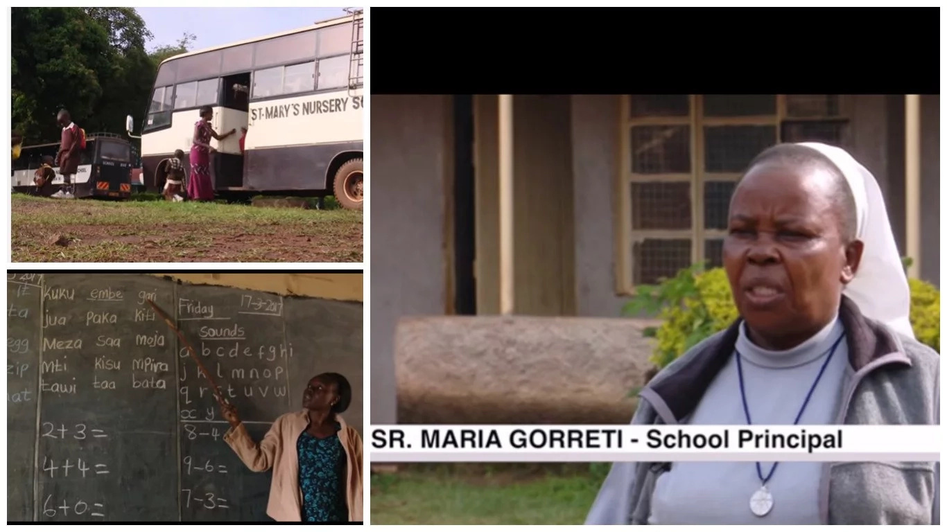 In pursuit of education! Pupils travel every morning from Uganda to attend school in Kenya