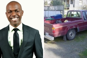 NTV's Larry Madowo stunts over a Toyota-driving Kenyan MP with his hot Mercedes Benz (photos)