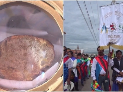 Holy fungus! Church-goers line up the streets to worship a 137-year old mushroom that 'resembles' Jesus
