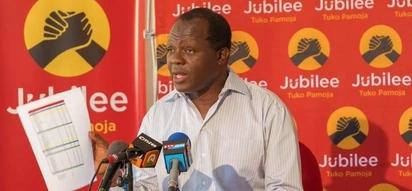 Waombolezaji wampigia kelele Katibu Mkuu wa Jubilee kwa kumkejeli Raila Odinga
