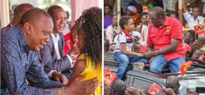 Pata kujionea picha za kutamanisha zake Uhuru na watoto katika kampeni zake za urais