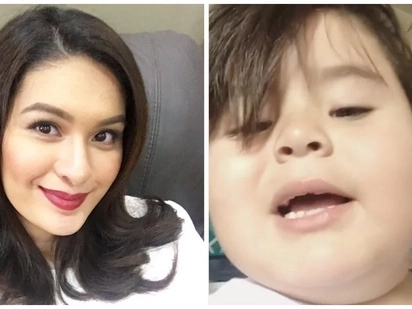 Awww! Baeby Baste shows how sweet he is by proving his treat to 'Eat Bulaga' co-host Pauleen Luna