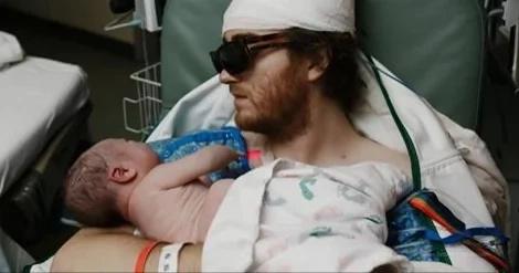 Padre con enfermedad terminal vio nacer a su hijo