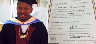 This is what Mike Sonko scored in KCSE after he shared his original certificates