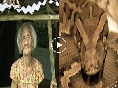 Ayos sa kapatid! Old woman from Quezon has twin sibling which is a SNAKE