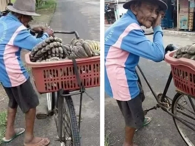 This elderly banana vendor's photo has gone viral. You won't believe the real reason why!