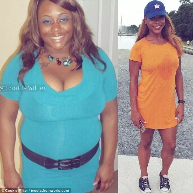 She once weighed 108kg
