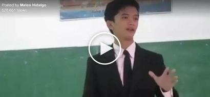 Kakapangilabot naman! Pinoy student addresses future generations with powerful speech