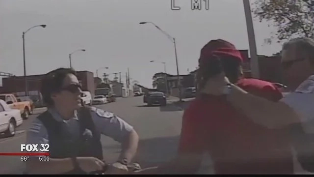 Man On Drugs Bloody Beats Female Cop, WATCH What Chicago Police Did