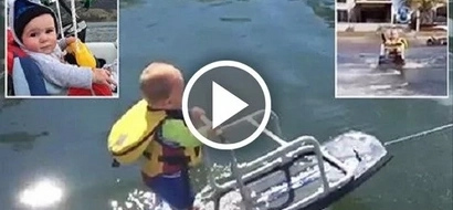 World's youngest wakeboarder is only 6 months old and he's totally adorable