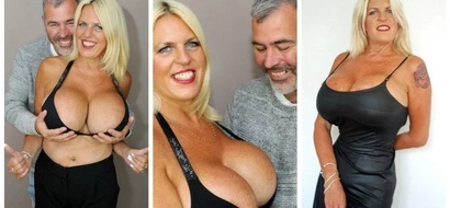 Meet woman with biggest breats in UK and 55cm waist (photos, video)