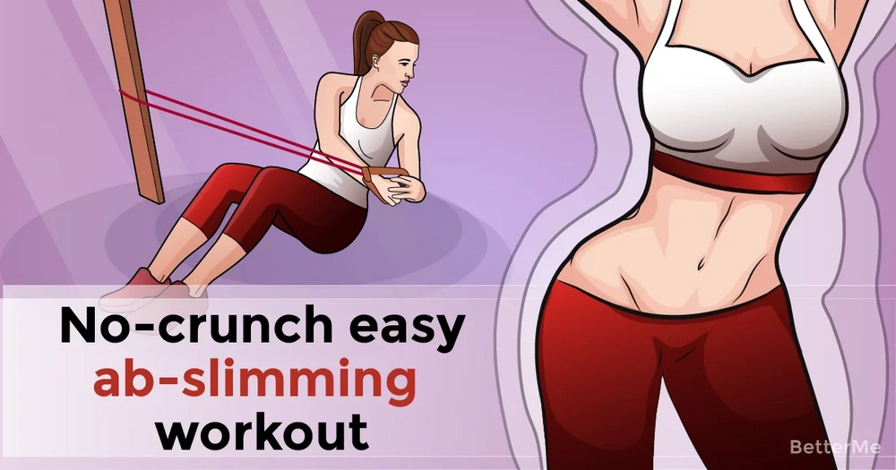 No-crunch easy ab-slimming workout