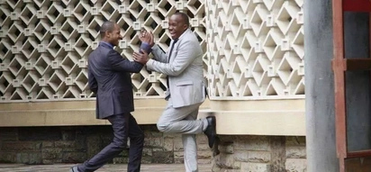Babu Owino and Jaguar follow Uhuru, Raila footsteps, reconcile months after ugly fist fight
