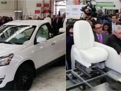 Take first look at specially made Popemobile as its unveiled for the first time