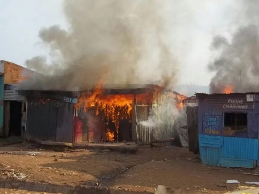 Bungoma residents burn hotel over KSh 20 debt