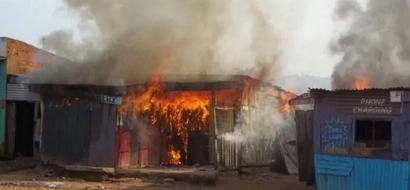 Bungoma hotel set ablaze over KSh 20 debt