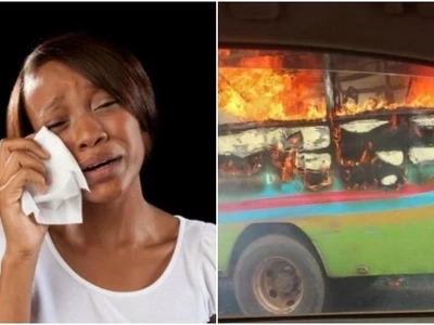 32-seater Nairobi bus bursts into flames