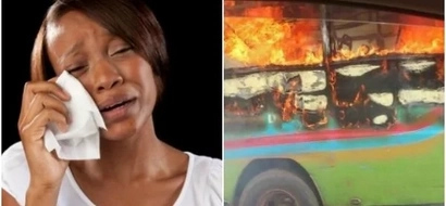 One dead, 4 injured as bus bursts into flames mysteriously