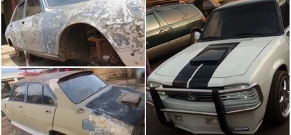 Man turns his old and battered car into a luxurious vehicle and it is awesome