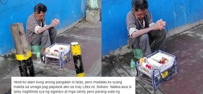 Nasan kaya kamag-anak ni lolo? Netizen begs help for sick old man in Quezon City