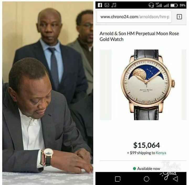 President Uhuru Kenyatta has a new watch worth just KSh 1.5 million only