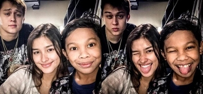 See how Liza Soberano and Enrique Gil do Awra's trademark pose!