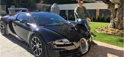 Cristiano Ronaldo leaves Instagram gushing as he poses with Bugatti which is the fastest road car in the world