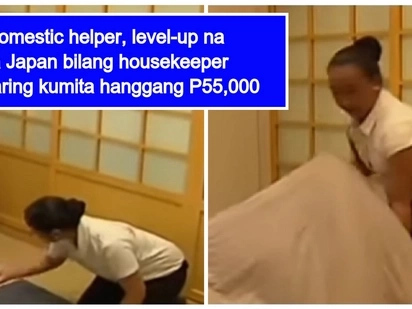 Domestic helper, nag level up sa Japan bilang professional housekeeper