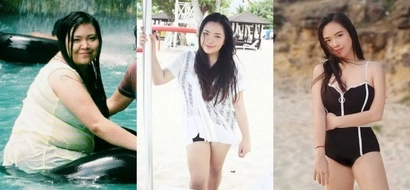 From fat to fab real quick! This girl used to be called 'baboy' but her transformation left people calling her 'diyosa'