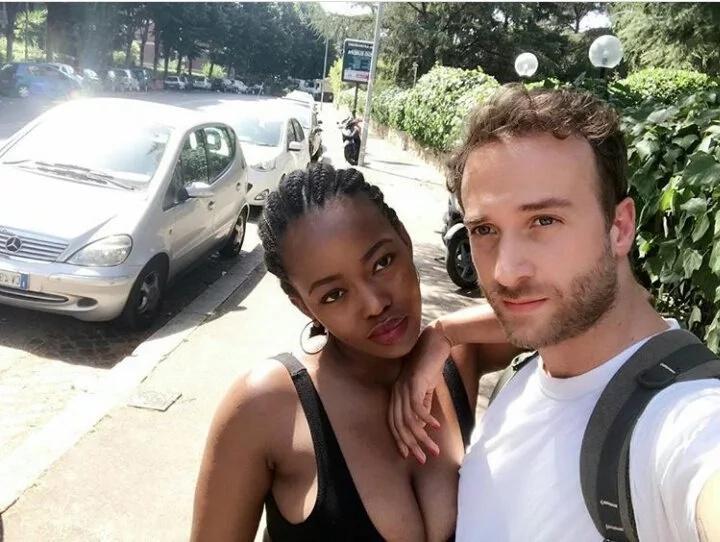 Reformed socialite and lawyer Corazon Kwamboka parades her mzungu boyfriend