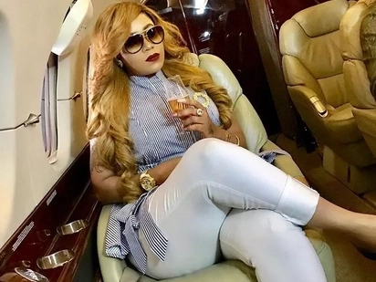 You only hired it for photos-Socialite Vera Sidika told as she flaunts in private jet