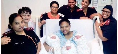 Joy as hospital delivers first ever set of TRIPLETS since its inception (photos)